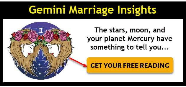 Gemini zodiac sign icon for Gemini marriage insights - click here to get your free reading