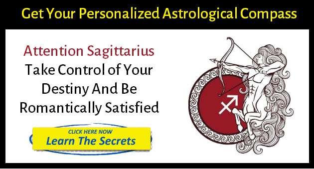 Sagittarius zodiac sign in banner - get your personalized astrological compass by clicking here