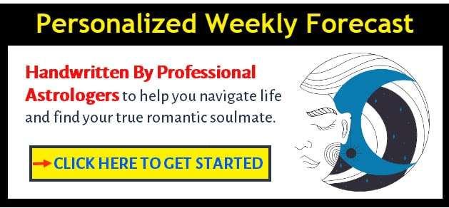 personalize weekly horoscope banner - click here to get started